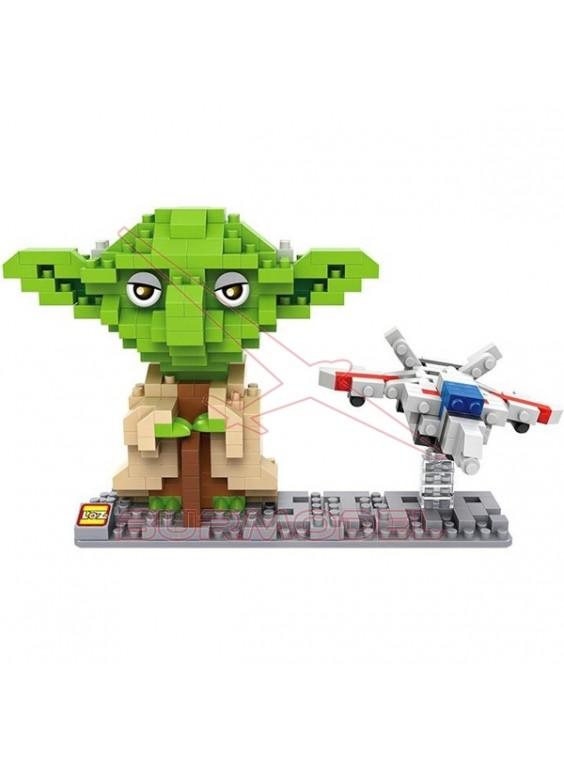 Juego para montar Yoda con nave 390 mini bloques