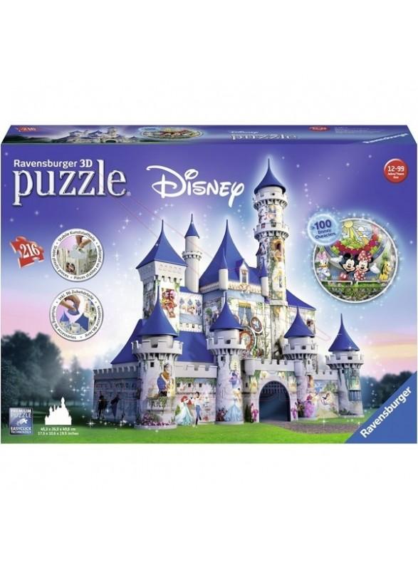 Puzzle 3D Castillo de Disney 216 piezas