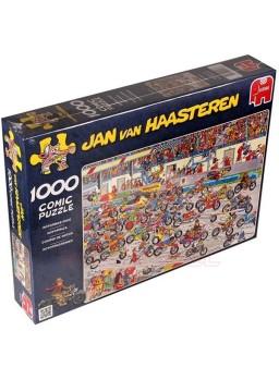 Puzzle comic Carrera de motos 1000 piezas