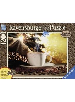 Puzzle Efecto madera Pausa Café 1200 piezas