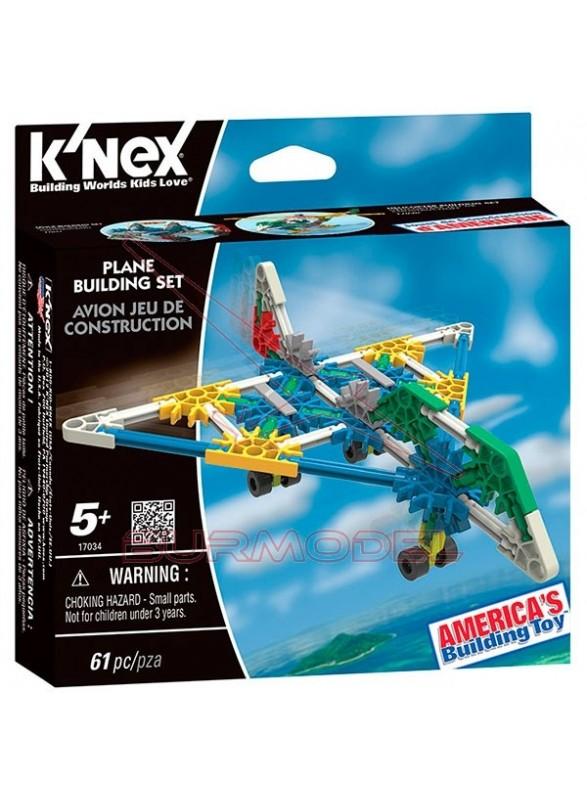 Knex juego de construcción avión 67 piezas