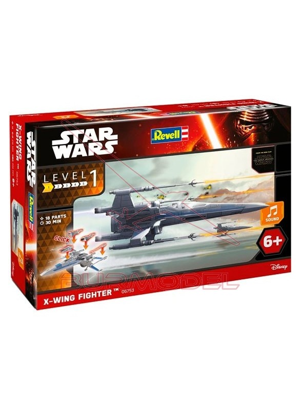 Maqueta Star Wars, Caza X-wING escala 1:78
