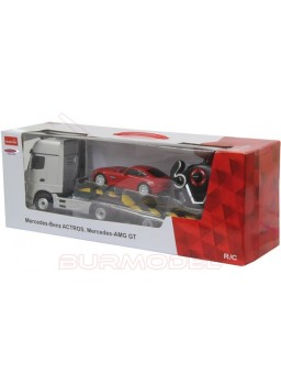 Camión RC  Mercedes Actros y coche mercedes AMG RC