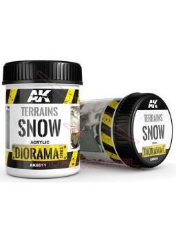 Efecto Terrenos nevados AK Diorama Series 250ml