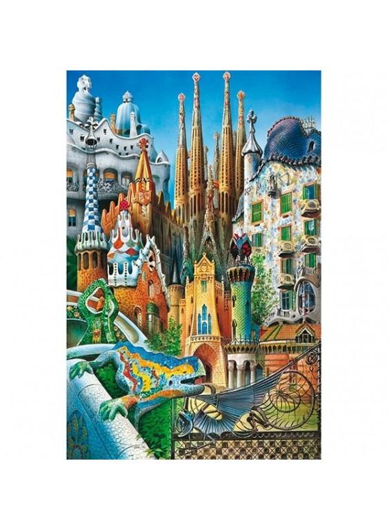 Puzzle miniature series Collage Gaudí 1000 piezas