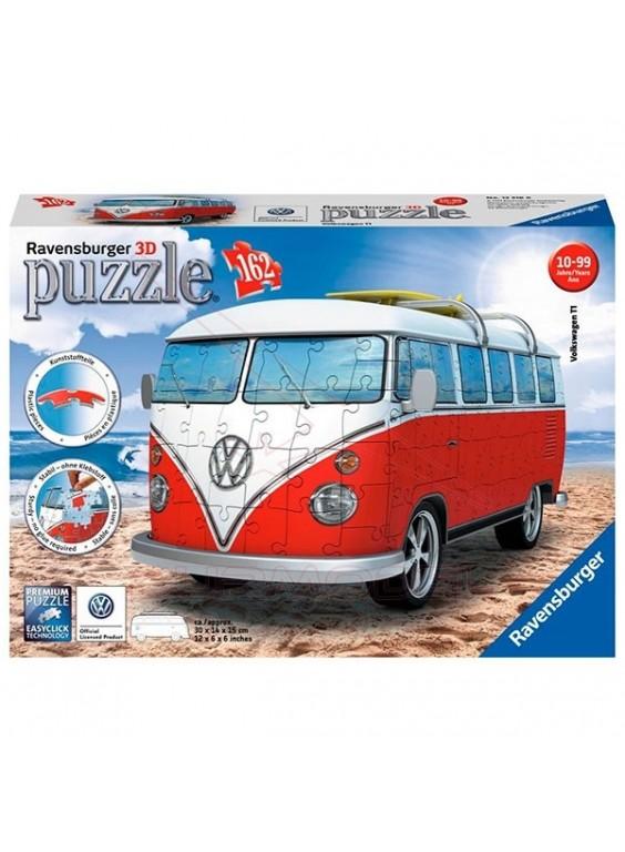 Furgoneta Volkswagen T1 en 3D 162 piezas