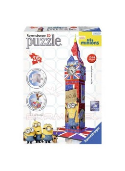 Big Ben para construir en 3D Minions