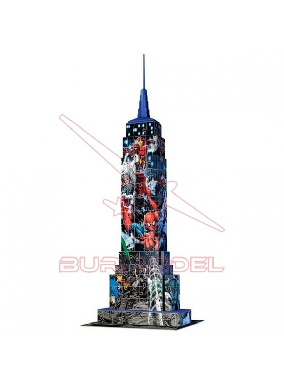 Empire State Building para montar 3D Marvel 216pzs