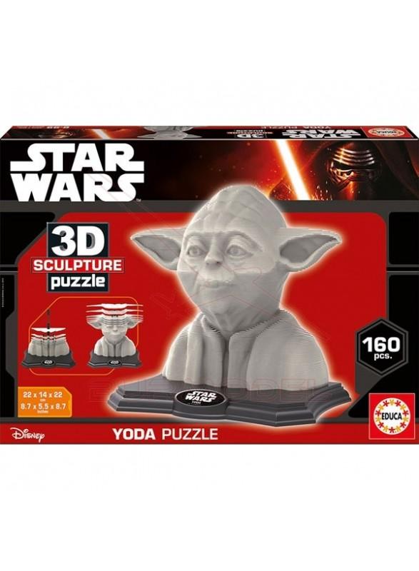 Puzzle 3D Sculture Yoda