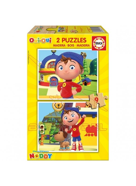 Dos puzzles de madera Noddy 9 piezas