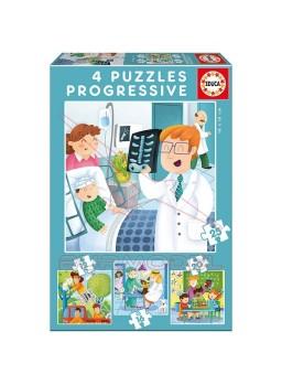 Cuatro puzzles progresivos De mayor quiero ser