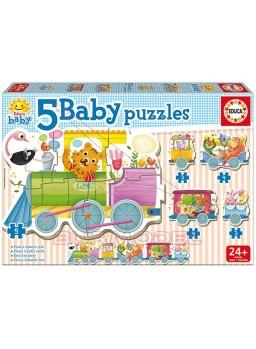 Puzzle infantil Tren de los animales