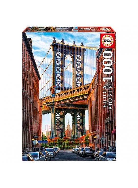 Puzzle Puente de Manhattan, New York 1000 piezas