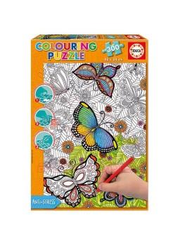 Puzzle antiestrés para colorear 300 piezas
