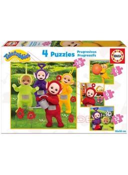 Puzzle progresivo Teletubbies 6-9-12-16 piezas