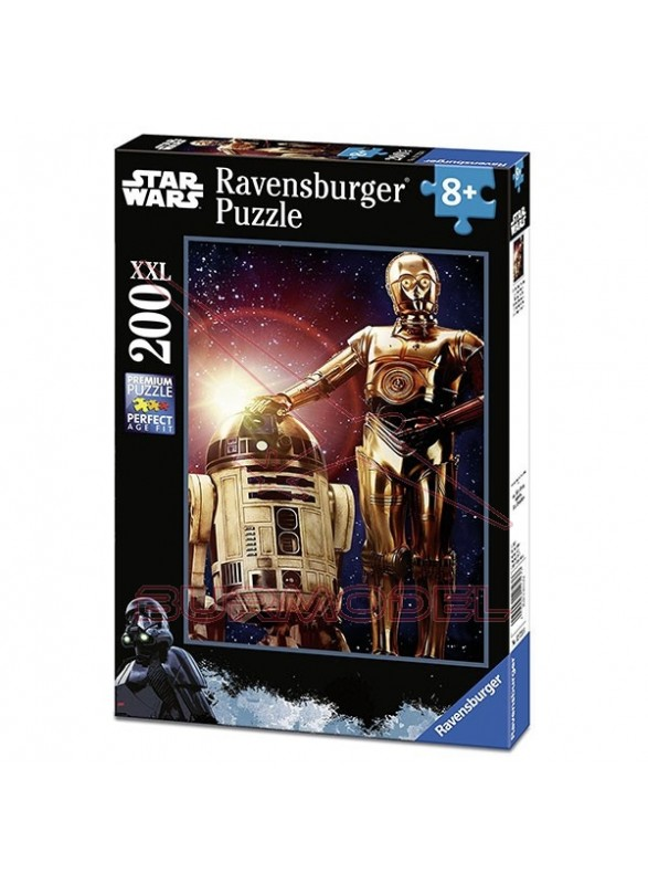 Puzzle XXL 200 piezas Star Wars R2-D2 C-3PO