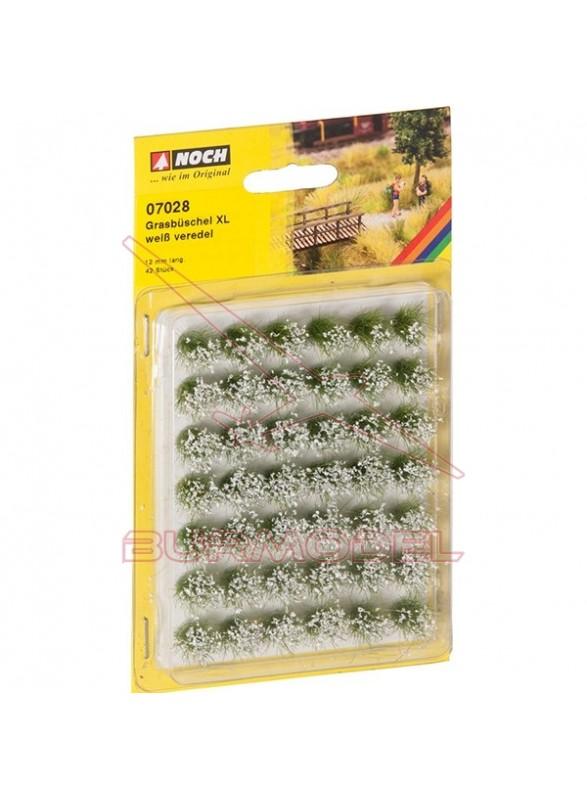 Manojos de hierba XL florido blanco