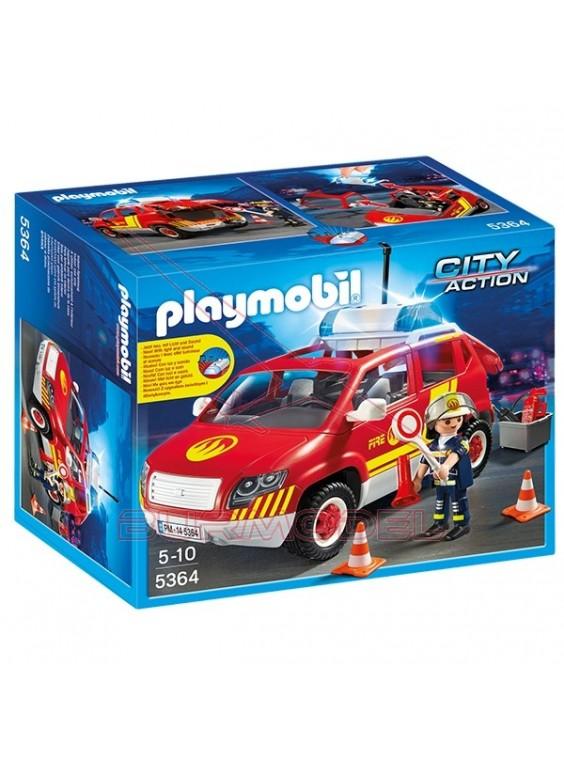 Playmobil Coche Jefe de Bomberos con Luces y Sonido