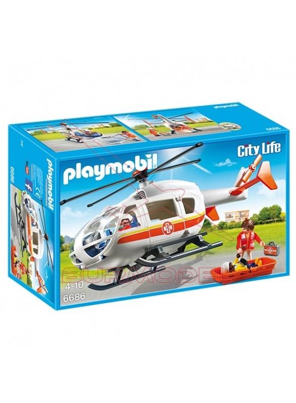 Playmobil Helicóptero Médico de Emergencia