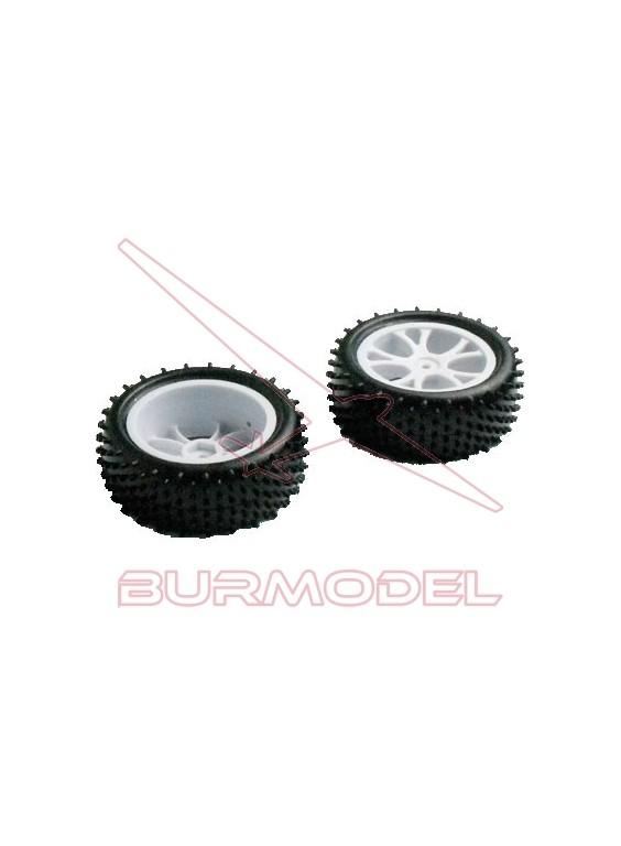 Neumáticos trasero multitacos 1/10 2uds