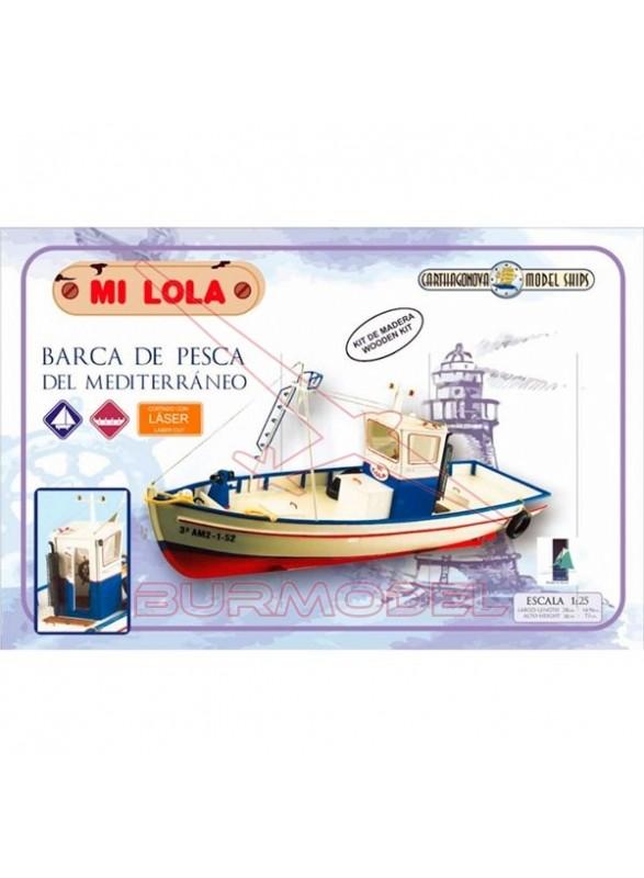 Barca de madera de pesca del Mediterraneo Mi Lola