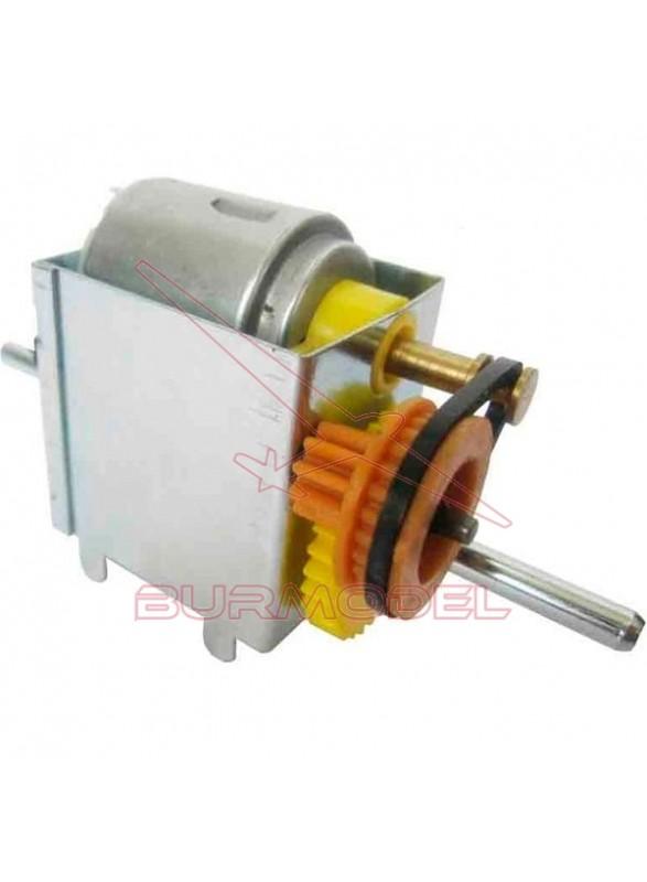Reductora con Polea y Motor 1,5V-6V 17:1
