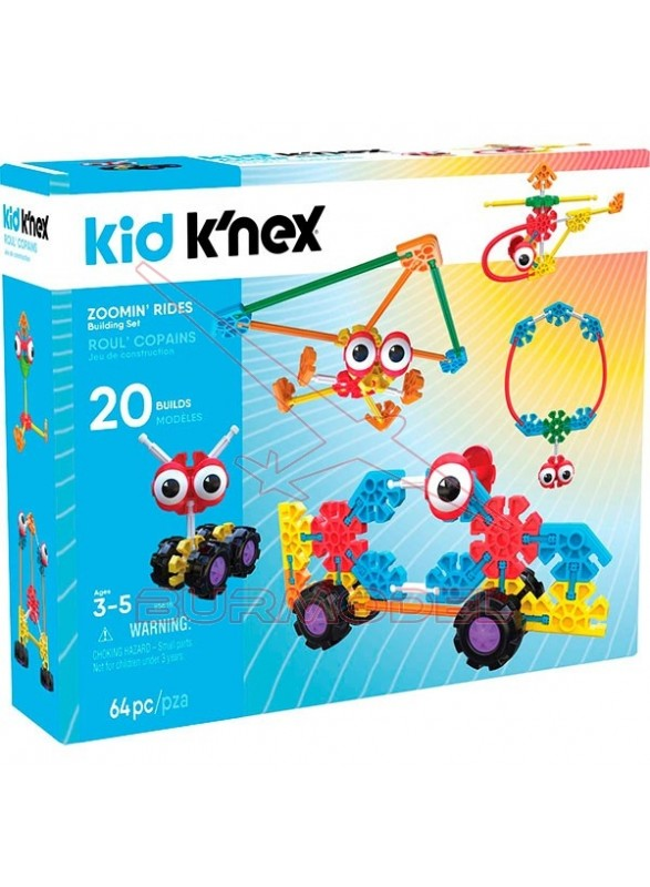 Kid Knex juego de construcción 20 en 1 64 piezas