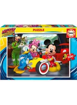Puzzle 100 piezas Mickey Mouse aventuras s/ ruedas