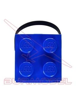Caja almuerzo Lego color azul