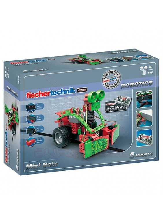 Juego Robótica Fichertechnik Mini Bots 145 piezas