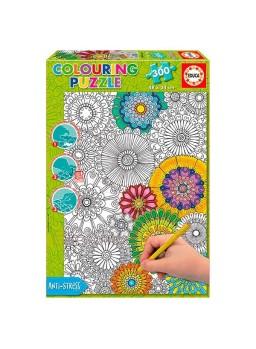 Puzzle para colorear Big beautiful blossoms 300pzs