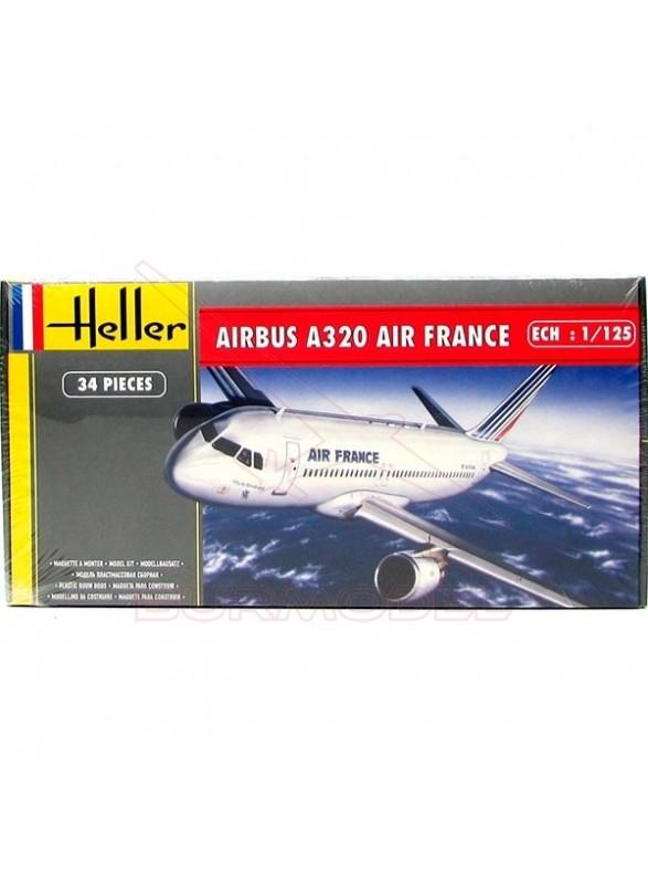 Maqueta avión Airbus A320 Air France 1/125 34 pzs