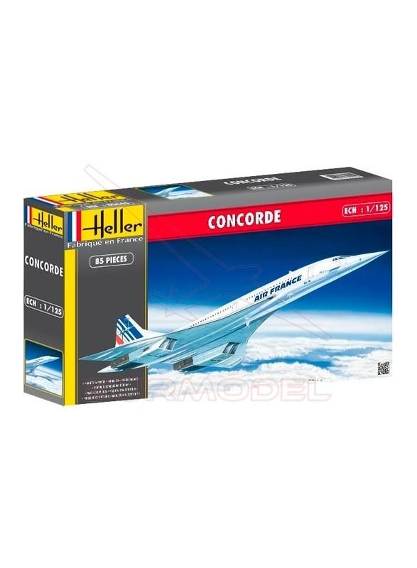 Maqueta avión Concorde 1/125 85 piezas