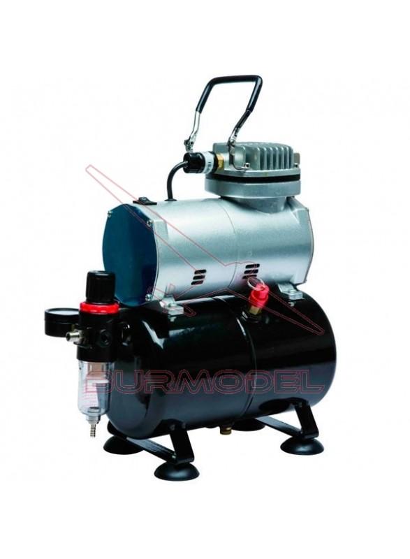 Compresor con calderín y manómetro D-80