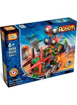 Robot espacial con cadenas para montar 634 piezas