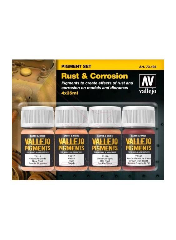 Set pigmentos efecto óxido y corrosión