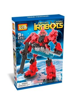 Irobots Construcción con 470 bloques.