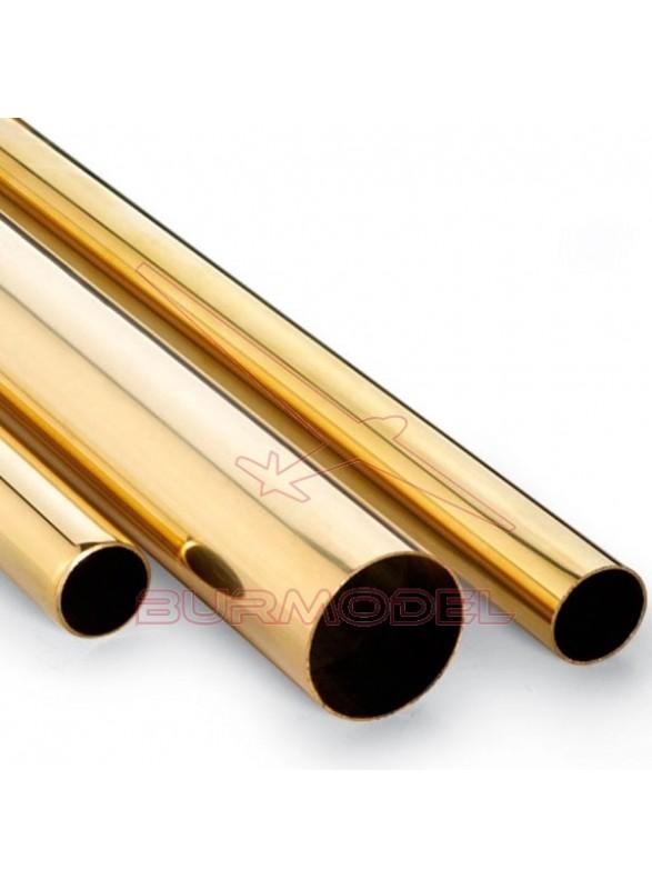 Tubo de latón 3 x 0,45 mm (1 metro)