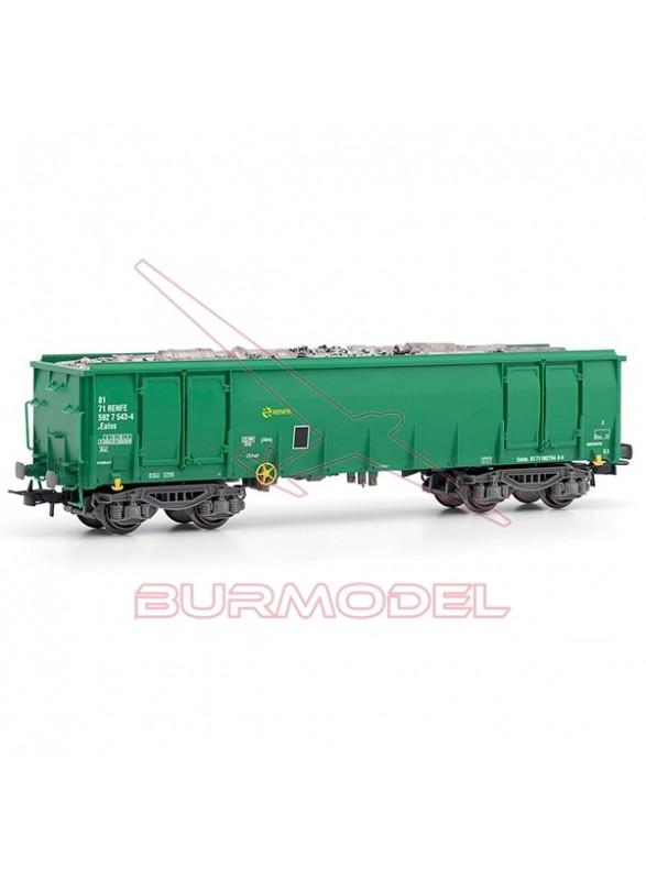 Vagón Ealos Renfe verde y gris HO