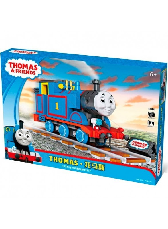 Locomotora azul para montar 429 pzs Thomas