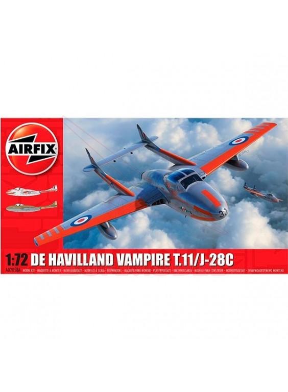 Avión De Havilland Vampire T.11/J-28C 1/72