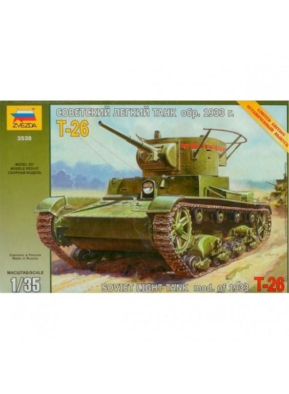Tanque T-26 con calcas españolas 1/35