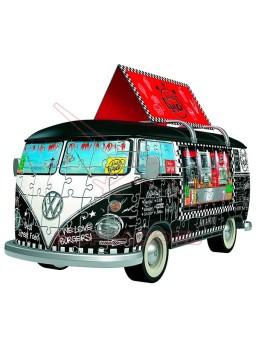 Puzzle 3D Furgoneta Volkswagen T1 Food Truck 162p