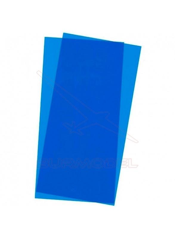 Hojas lisas Evergreen color azul