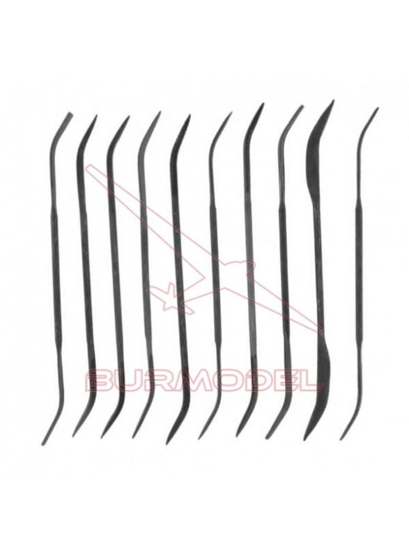 Set de limas curvadas (10 unidades)