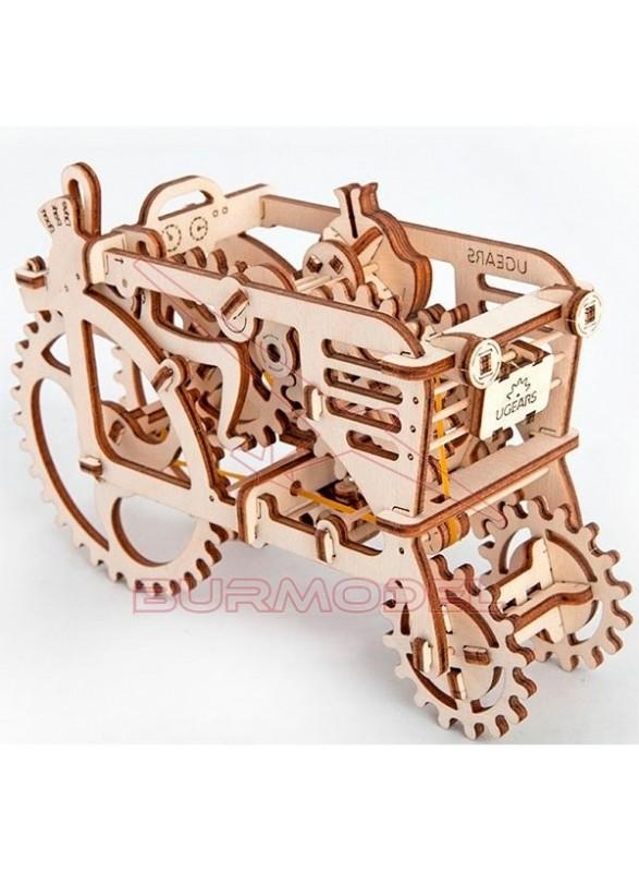 Maqueta de Madera Tractor Antiguo