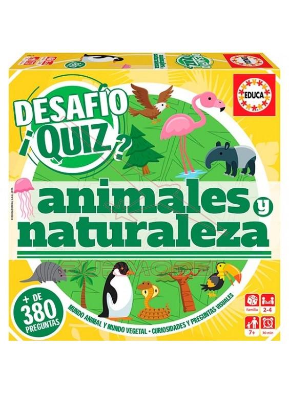 Juego de mesa animales y naturaleza