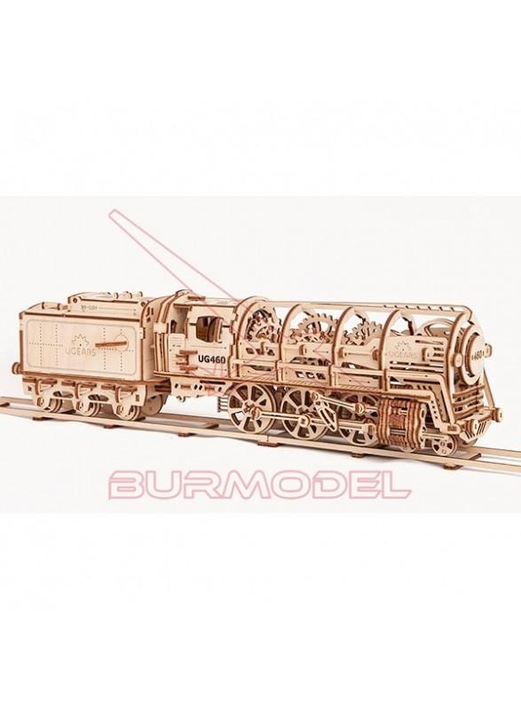 Maqueta de Madera Locomotora de Vapor
