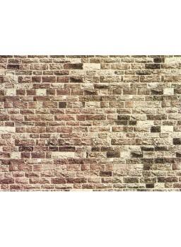 Muro de ladrillos papel con textura escala 1/87