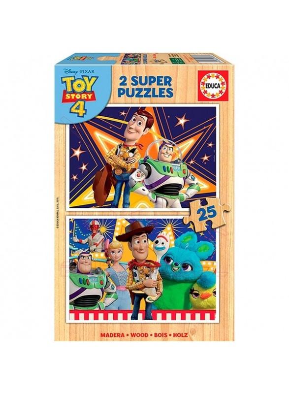 Puzzle 2 x 25 piezas Toy Story 4